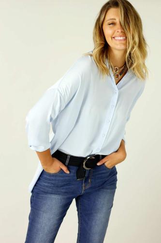 Pale Blue Seta Everyday Shirt - SALE