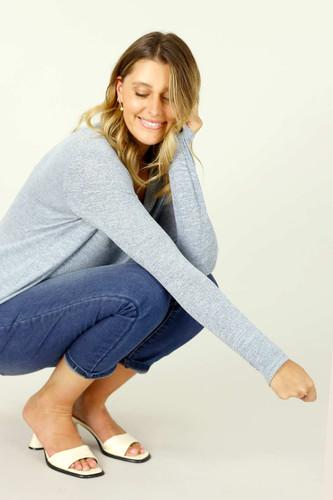 Blue Knit Romi Top