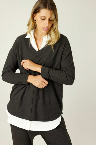 Charcoal Lounge Queen Jumper