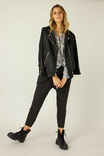 Charcoal Lounge Slouch Pant