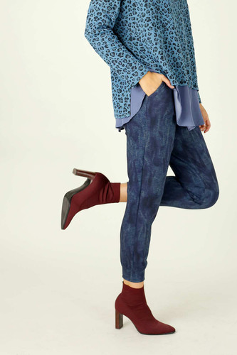 Blue Denim Ponte Stitch Jogger - SALE
