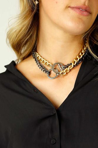 Gold Edge Necklace - SALE