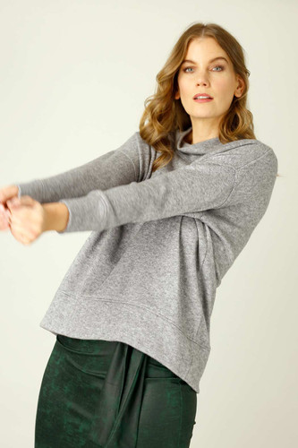 Grey Lux Oversized Jumper