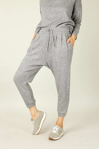 Grey Lux Drawstring Slouch Pant - SALE