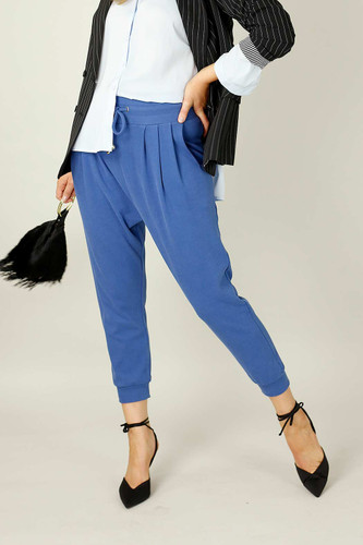 Blue Lounge Slouch Pant