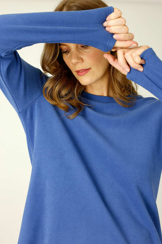 Blue Lounge Crew Neck Jumper