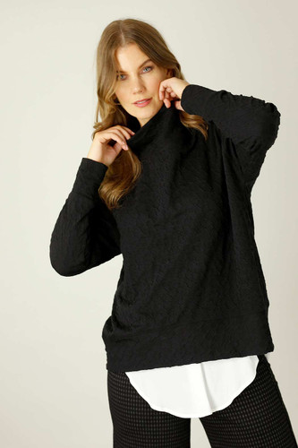 Black Animal Jacquard Jumper
