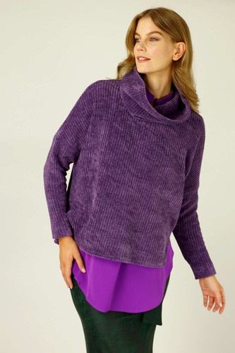 Purple Velour Turtle Neck - SALE