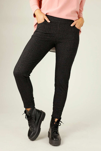 Charcoal Ponte Relaxed Slim Jean