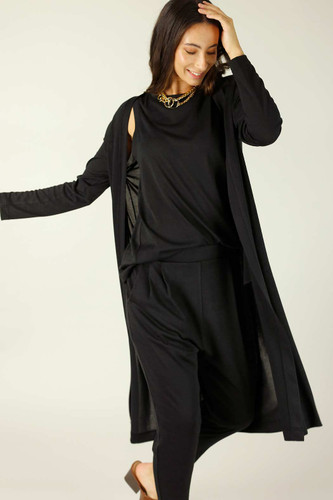 Black Woolly Lounge Cardi