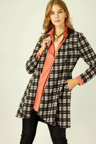 Caramel Check London Coat