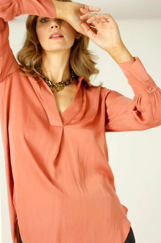 Peach Seta Gatsby Shirt - SALE