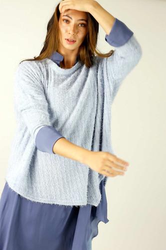 Light Blue Eyelash Knit Overtop - FINAL SALE