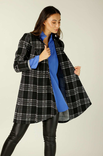 Black & White Check London Coat