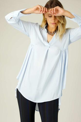 Pale Blue Seta Babydoll Shirt - SALE