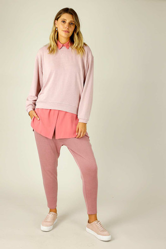 Light Pink Woolly Crew Jumper - SALE