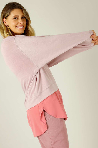 Light Pink Woolly Crew Jumper