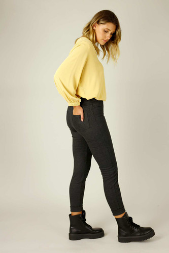 Charcoal Firm Hold Relaxed Slim Jean