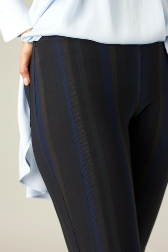 Dark Stripe Ponte Relaxed Slim Jean