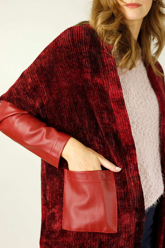 Flame Velour Tie Dye Cardigan - FINAL SALE