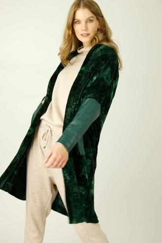 Forest Velour Tie Dye Cardigan - FINAL SALE