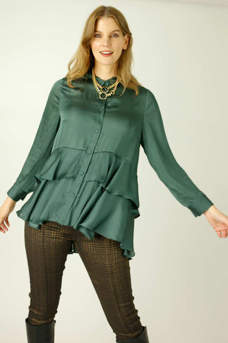 Teal Silky Paris Shirt
