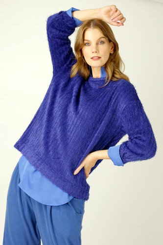 Cobalt Eyelash Knit Genie Jumper