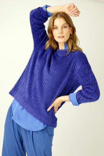 Cobalt Eyelash Knit Genie Jumper - SALE