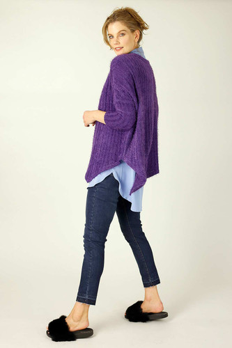 Purple Eyelash Knit Overtop