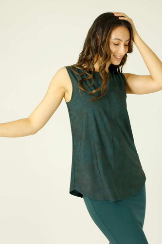 Green Leatherette Matrix Cami