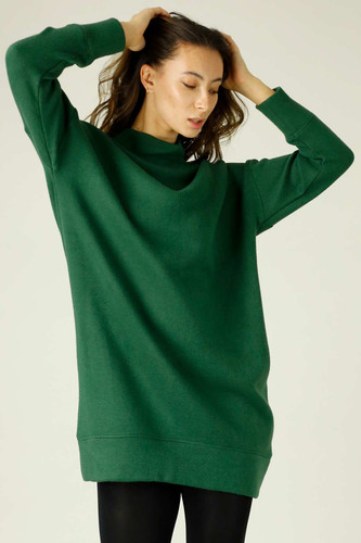 Forest Lux Long Oversized Dress