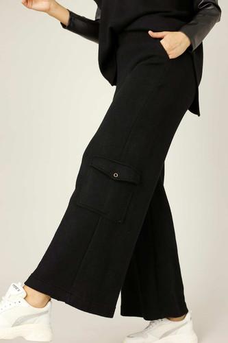 Black Lux Cargo Culottes - SALE