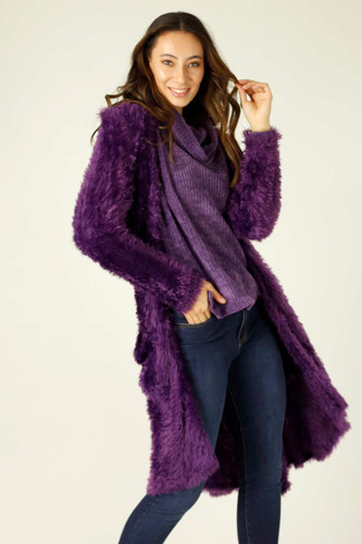 Purple Plush Travel Cardigan - FINAL SALE