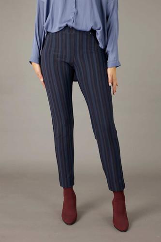 Lilac Stripe Ponte Relaxed Slim Jean - SALE