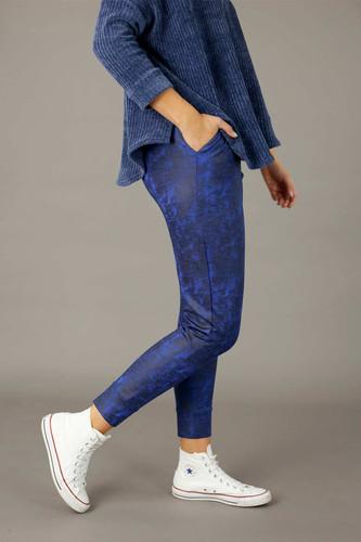 Cobalt Leatherette Slouch Pant - SALE