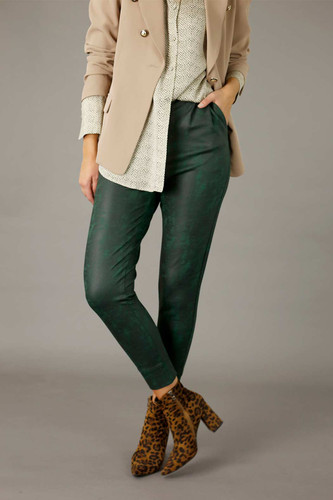Forest Leatherette Slouch Pant - SALE