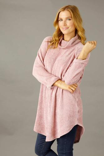 Pink Velour Oversize Jumper - SALE