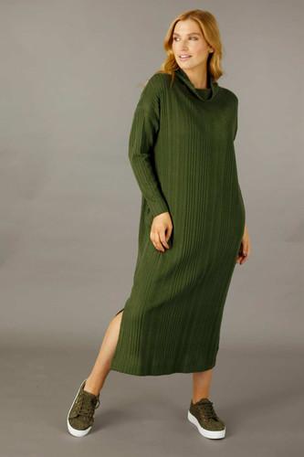 Khaki Rib Dress