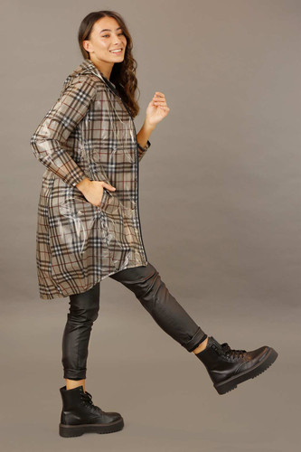 Check Waterproof Raincoat