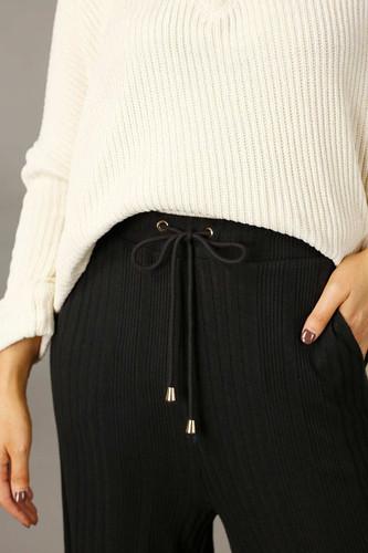 Black Rib Lifestyle Culotte - FINAL SALE