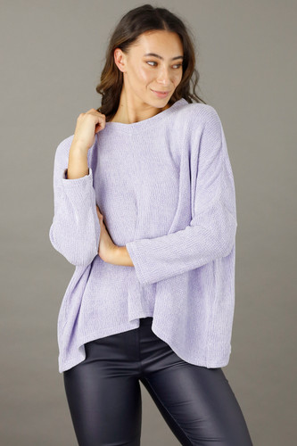 Lilac Velour Relaxed Jumper
