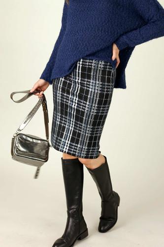 Blue Check Mini Skirt - SALE