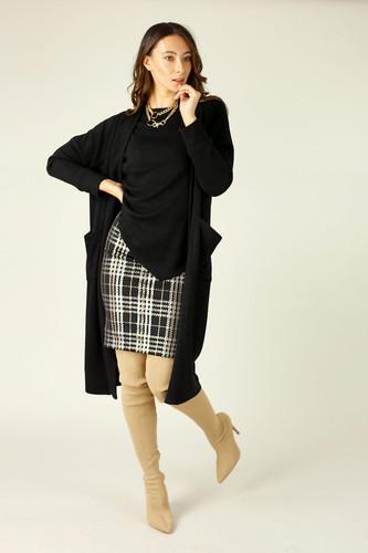 Gold Check Mini Skirt