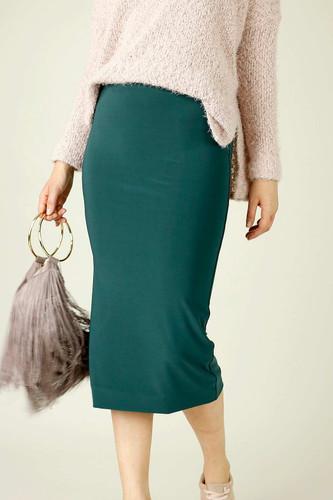 Forest Jersey Midi Skirt