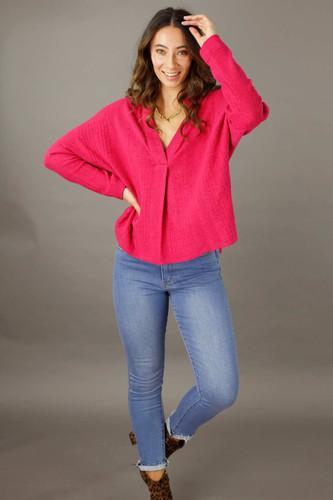 Pink Rib Eden Jumper