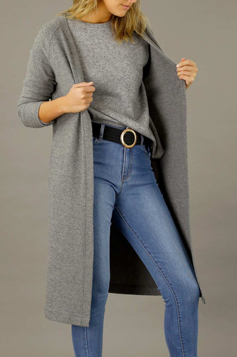 Mid Grey Brushed Lounge Cardigan - SALE