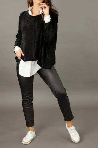 Black Waxed Easy Jean