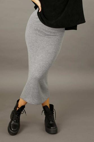 Grey Rib Lexi Skirt - SALE