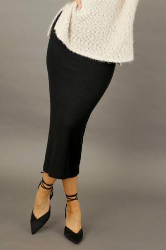 Black Rib Lexi Skirt - FINAL SALE