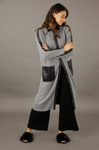 Grey Rib Lexi Coatigan - SALE